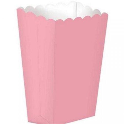 5 Caixas de Pipocas Rosa Claro