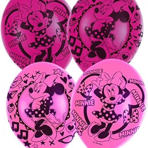 6 Balões Látex Minnie Rosa 30cm