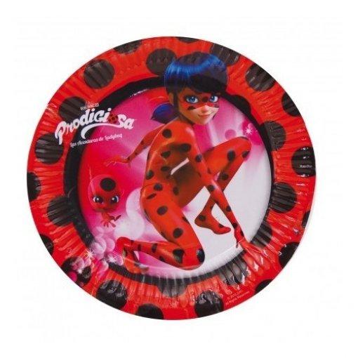 8 Pratos Ladybug 18cm