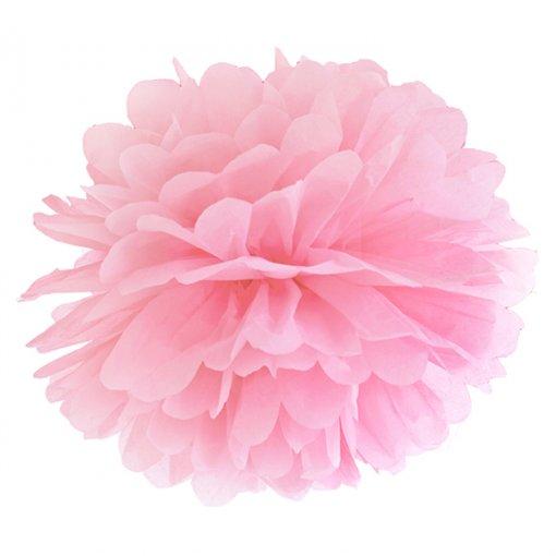 Pom Pom Decorativo Rosa Claro 40cm 2 unidades