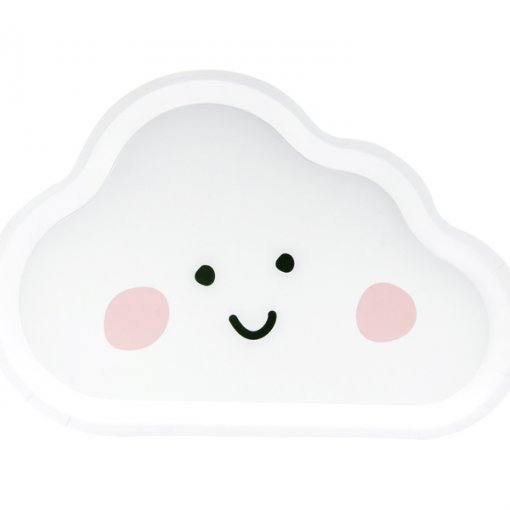 6 Pratos Nuvem 17cm