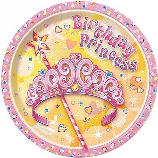 8 Pratos Princesas 17cm