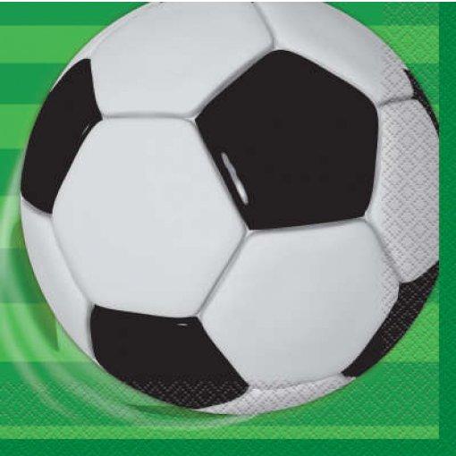 16 Guardanapos Futebol 33cm x 33cm