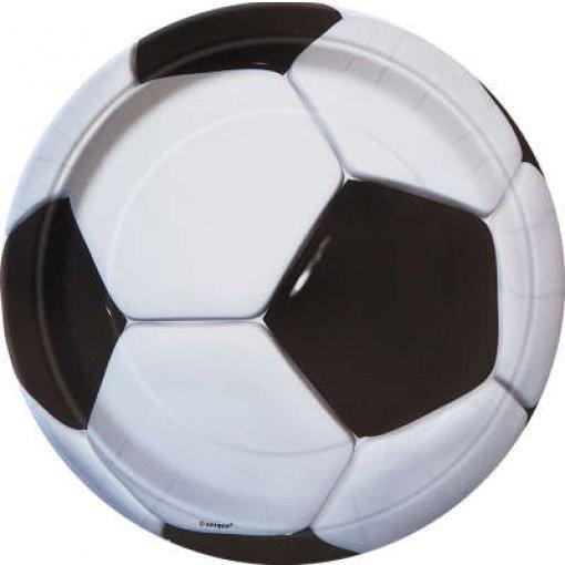 8 Pratos Futebol 23cm