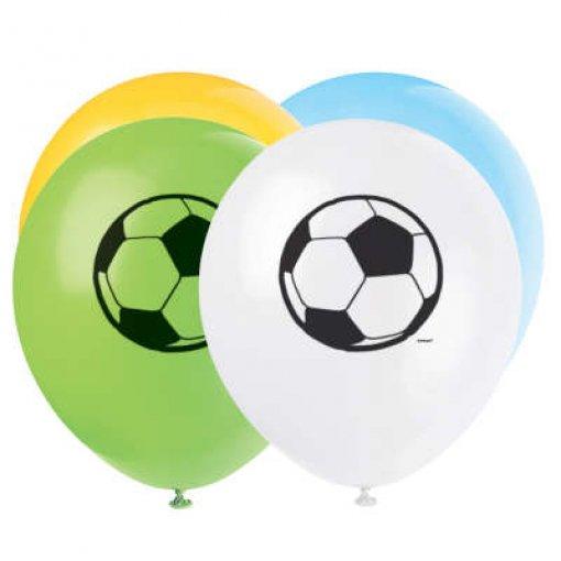 8 Balões látex Futebol 30cm