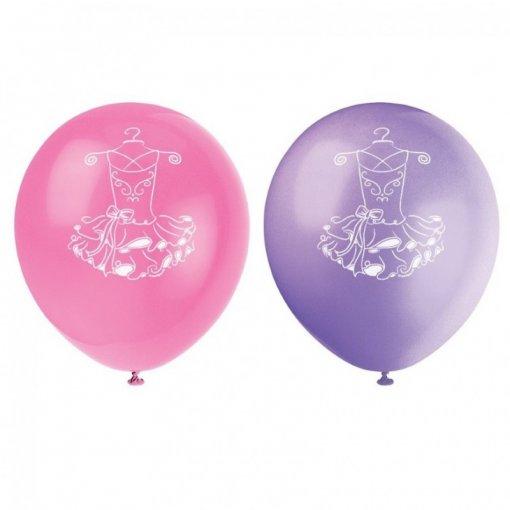 8 Balões Látex Bailarina 30cm