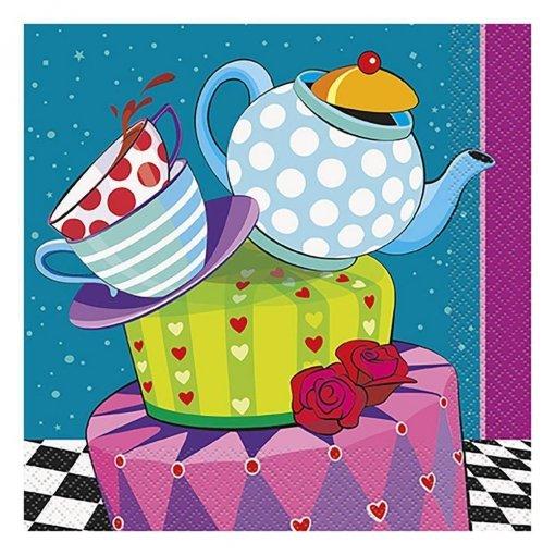 16 Guardanapos Chá da Alice 33cm x 33cm