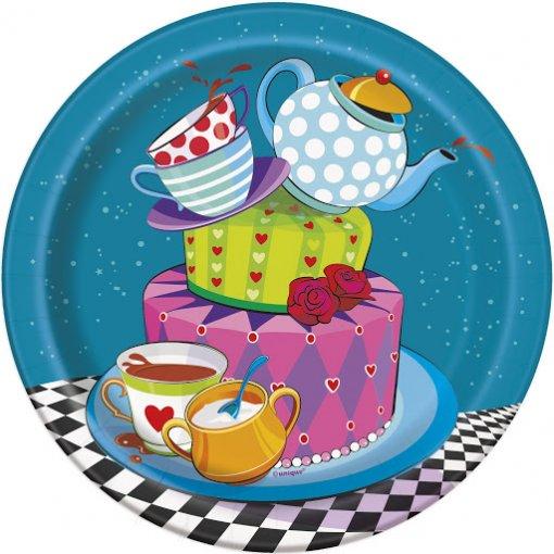 8 Pratos Chá da Alice 17cm