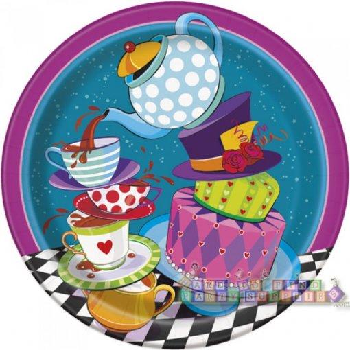 8 Pratos Chá da Alice 22cm