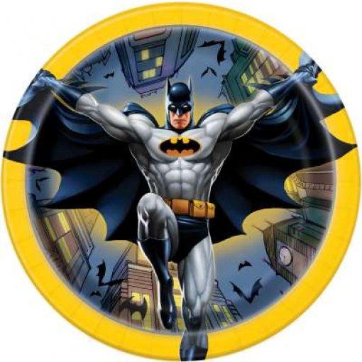 8 Pratos Batman 17cm