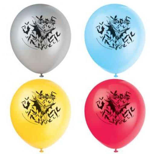 8 Balões látex Batman 30cm