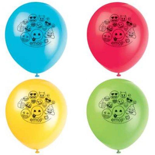 8 Balões Látex Emojis 30cm