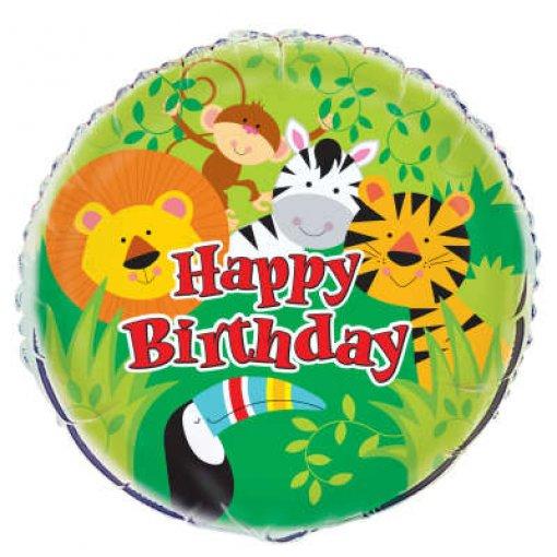 Balão Foil Animais da Selva 45.7cm