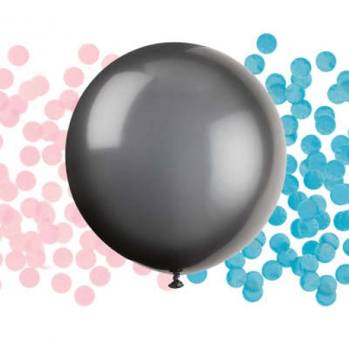 Balão Revelação com Confettis Rosa e Azul 60cm