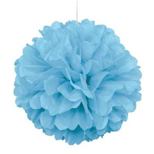Pom Pom Decorativo Azul Claro 40cm 2 unidades