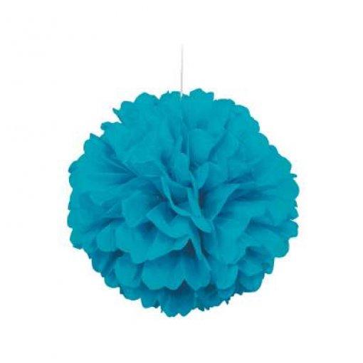 3 Mini Pom Pom Azul Caribe 22cm