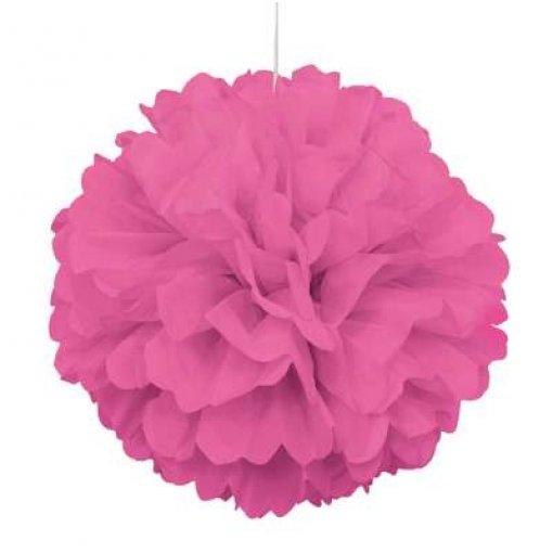 Pom Pom Decorativo Rosa Fucshia 40cm 2 unidades