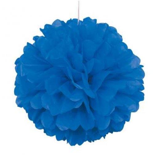 3 Mini Pom Pom Azul Escuro 22cm