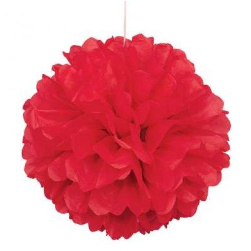 3 Mini Pom Pom Vermelho 22cm