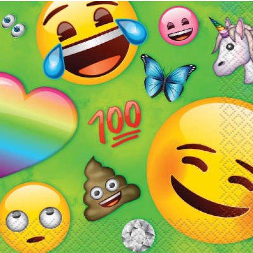 16 Guardanapos Emojis 16cm x 16cm