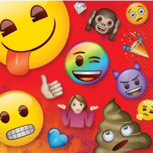 16 Guardanapos Emojis 33cm x 33cm