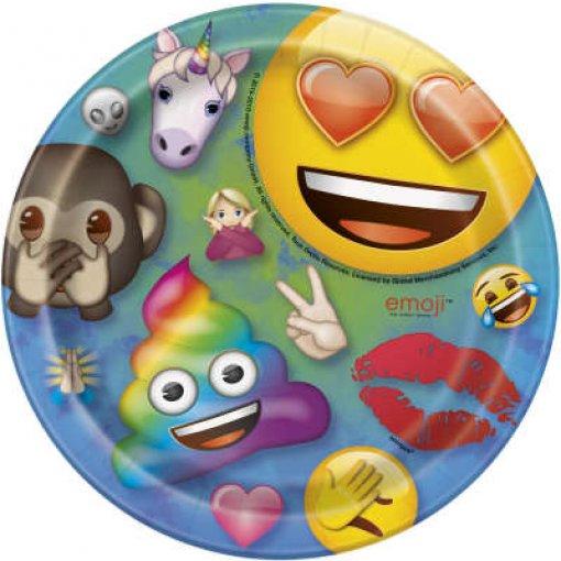 8 Pratos Emojis 17cm