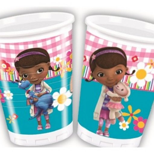 8 Copos Plástico Dra. Brinquedos 200ml