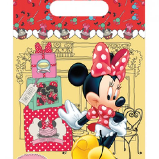 6 Sacos de Oferta Minnie Vermelha
