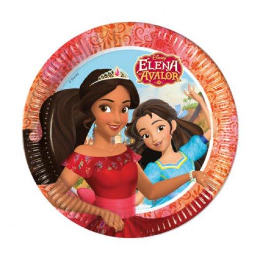 8 Pratos Elena de Avalor 23cm