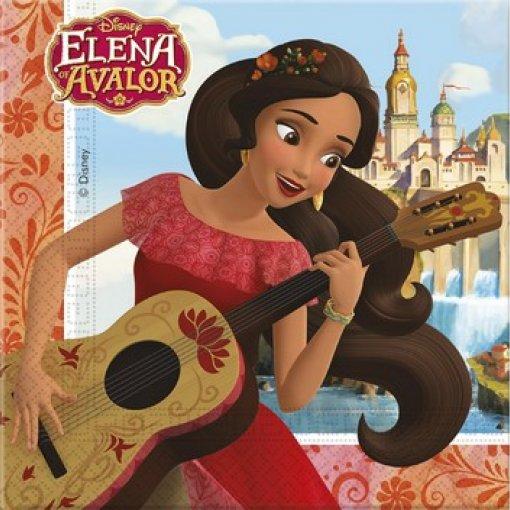 20 Guardanapos Elena de Avalor 33cm x 33cm