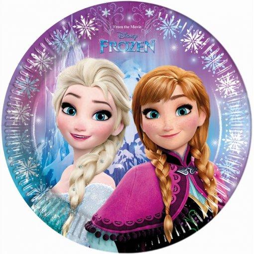 8 Pratos Frozen 23cm