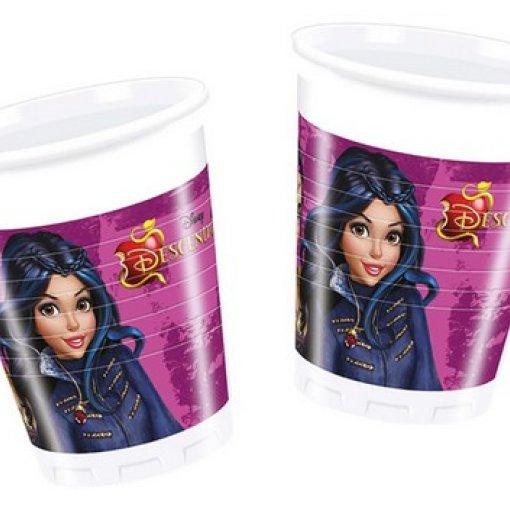 8 Copos de Plástico Descendentes Disney 200ml