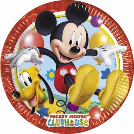8 Pratos Mickey 23cm