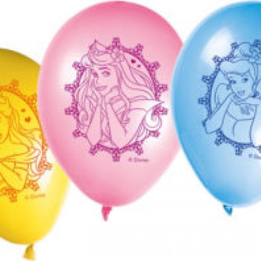 8 Balões Látex Princesas Disney 30cm