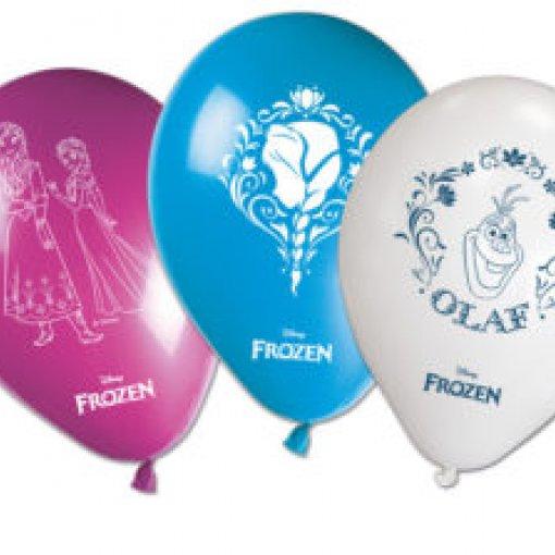 8 Balões látex Frozen 30cm