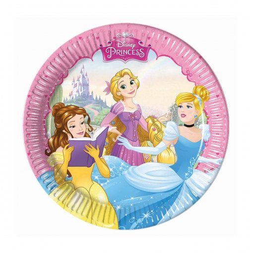 8 Pratos Princesas Disney 19cm