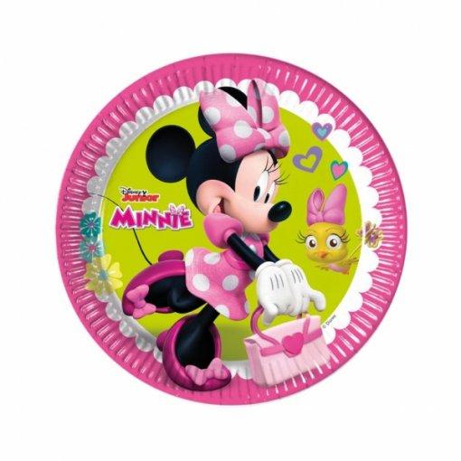 8 Pratos Minnie Rosa 23cm