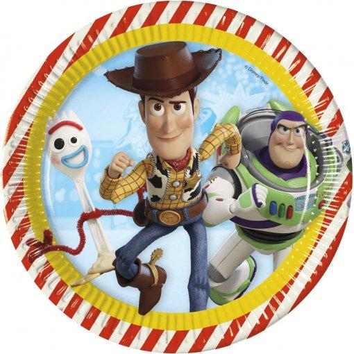 8 Pratos Toy Story 23cm