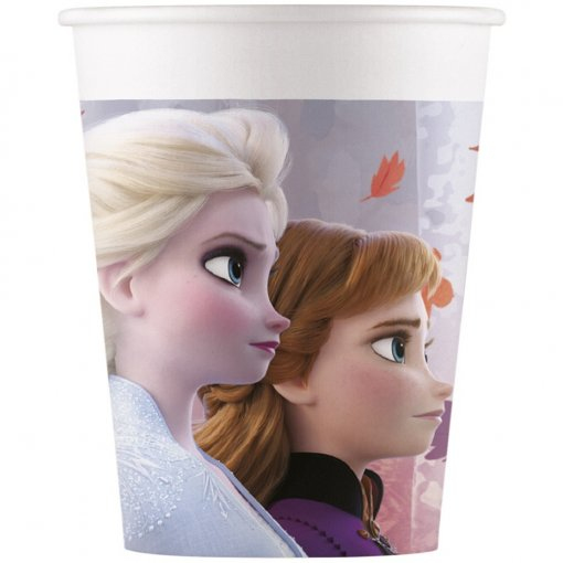 8 Copos Papel Frozen 2 200ml