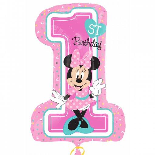 Balão Foil 1 Minnie Rosa 71cm