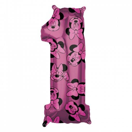 Balão Foil 1 Minnie Rosa 66cm
