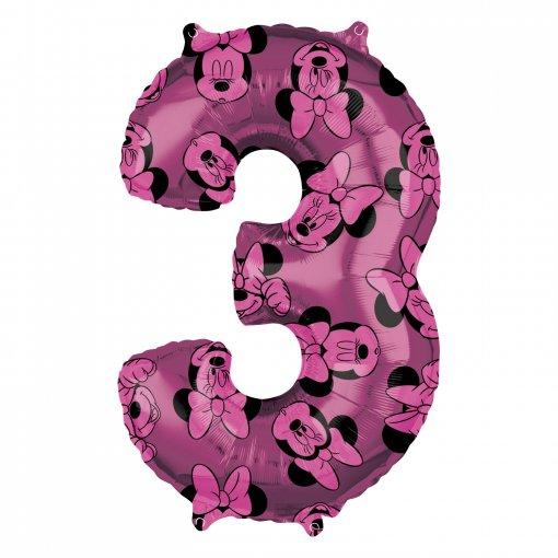 Balão Foil 3 Minnie Rosa 66cm