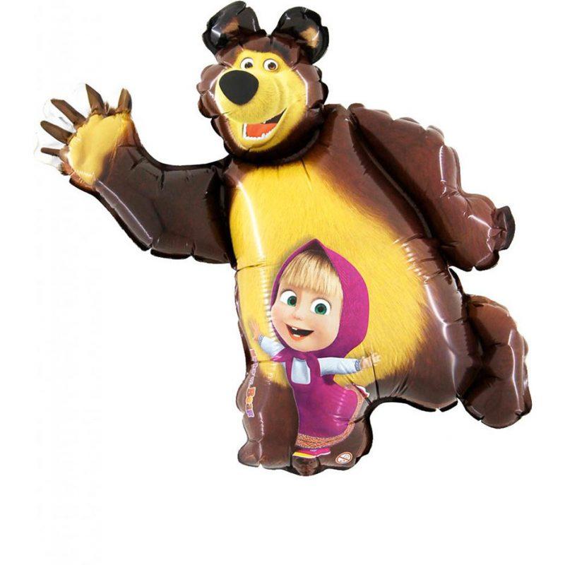 Balão Foil Super Shape Masha e o Urso 105cm