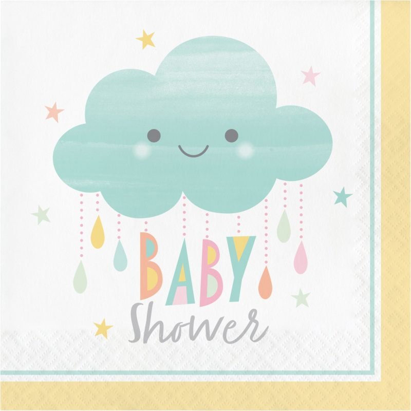 Guardanapos Descatáveis Baby Shower Chuva de Amor