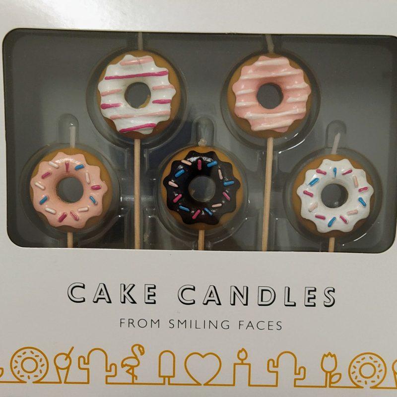 Conjunto de Velas Donuts 5 unidades