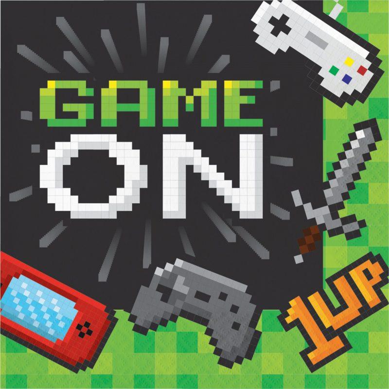 Guardanapos Descartáveis Video Game 16 unidades