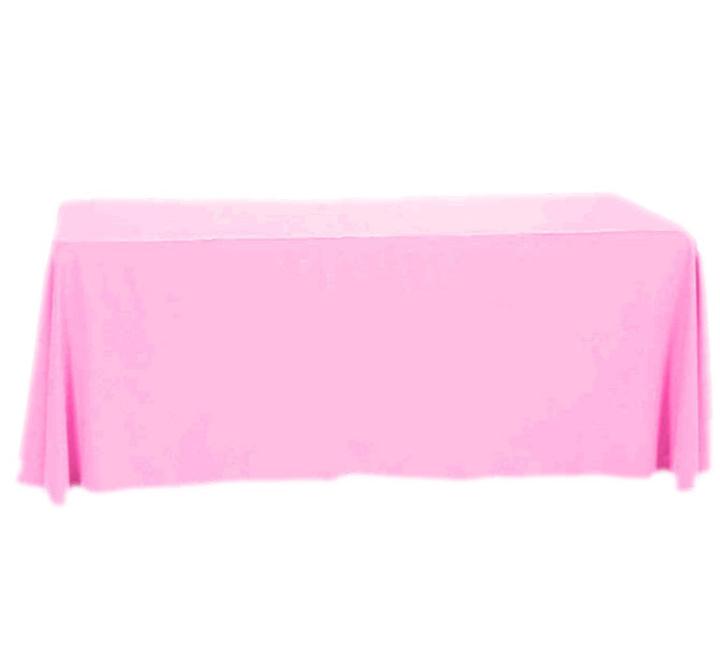 Toalha de Mesa de Algodão Rosa 137cm x 274cm