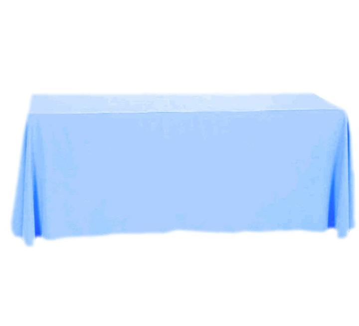 Toalha de Mesa de Algodão Azul 137cm x 274cm