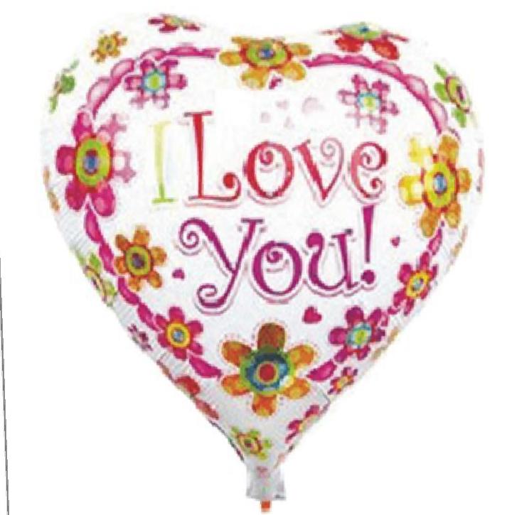 Balão alumínio coração