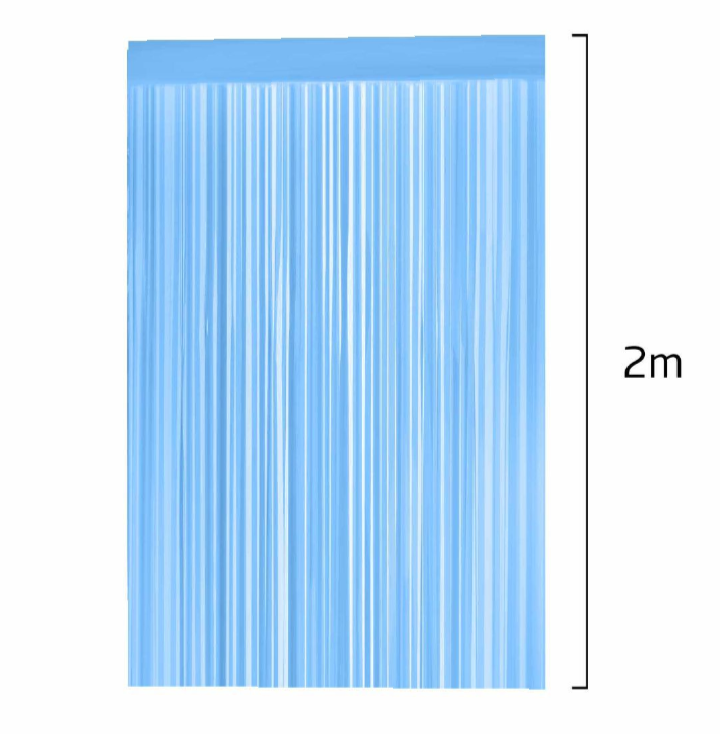 Cortina Decorativa Azul Claro 100cm x 200cm